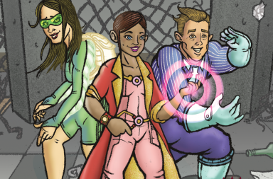 Community Superheroes Cartoon