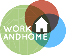 work and home logo